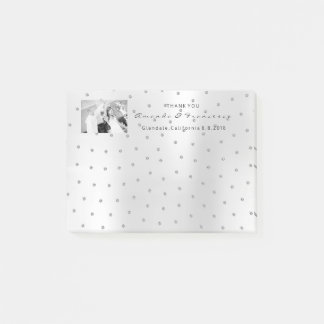 Wedding Thank You Favor Photo Silver Gra Swarovski Post-it Notes