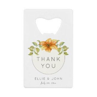 Wedding Thank You Favor Watercolor Star Flower