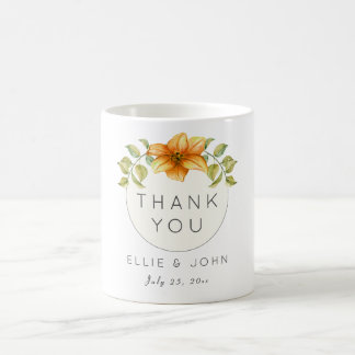 Wedding Thank You Favor Watercolor Star Flower Coffee Mug