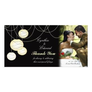 Wedding Thank You Ivory Round Lanterns Photo Card