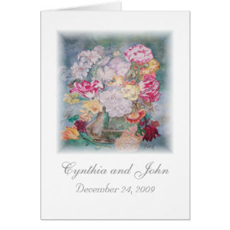 Wedding Thank You - Matching Invitation, Postage Note Card