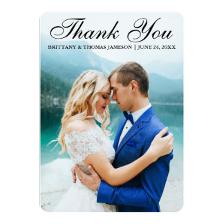 Wedding Thank You Modern Photo Card BTR