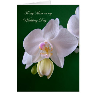 Wedding.Thank you Mom Card with orchid