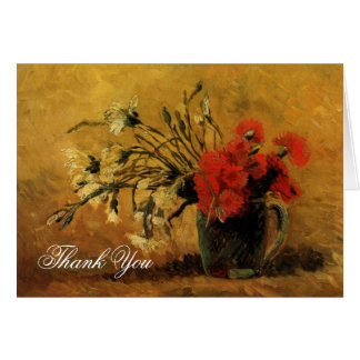Wedding thank you note Vincent van Gogh  Carnation Card