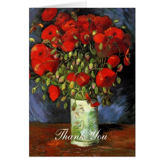 Wedding thank you note Vincent van Gogh Greeting Card
