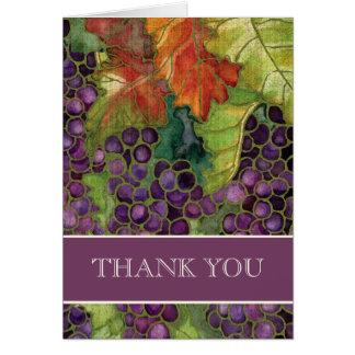 Wedding Thank You Notes, Autumn Grape Leaf Card