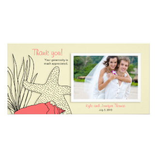 Wedding Thank You Photo Card - Beach Theme