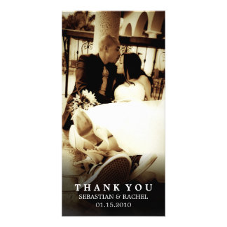 Wedding: Thank you photo card horizontal