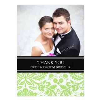 Wedding Thank You Photo Cards Lime Black 14 Cm X 19 Cm Invitation Card