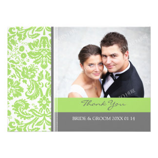 Wedding Thank You Photo Cards Lime Gray