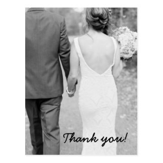 Wedding Thank You Photo Post Card