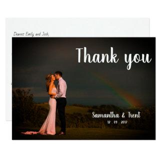 Wedding Thank You Postcard - Rainbow