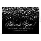 """Wedding """"Thank you"""" Silver Midnight Glam Card"""