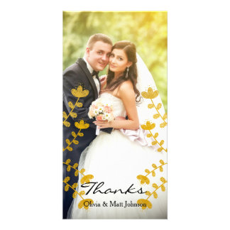Wedding Thanks - Full Photo Insert Photo Greeting Card