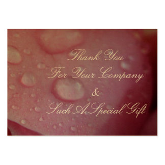 Wedding Thankyou Pack Of Chubby Business Cards