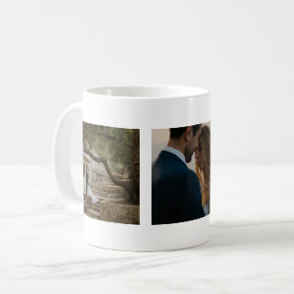 Wedding Three Photos Couple Customized Coffee Mug