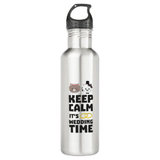 wedding time keep calm Zitj0 710 Ml Water Bottle