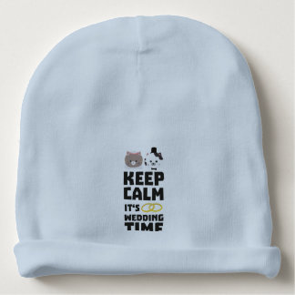 wedding time keep calm Zitj0 Baby Beanie