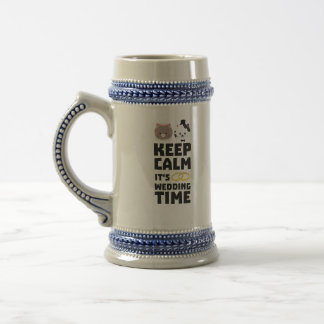 wedding time keep calm Zitj0 Beer Stein