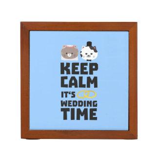 wedding time keep calm Zitj0 Desk Organiser