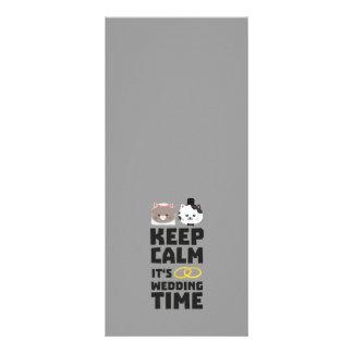 wedding time keep calm Zitj0 Full Color Rack Card