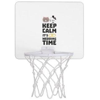 wedding time keep calm Zitj0 Mini Basketball Hoop