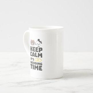 wedding time keep calm Zitj0 Tea Cup