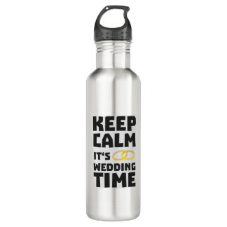 wedding time keep calm Zw8cz 710 Ml Water Bottle