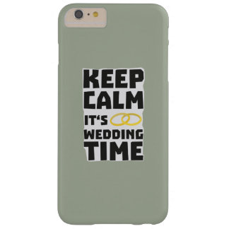 wedding time keep calm Zw8cz Barely There iPhone 6 Plus Case