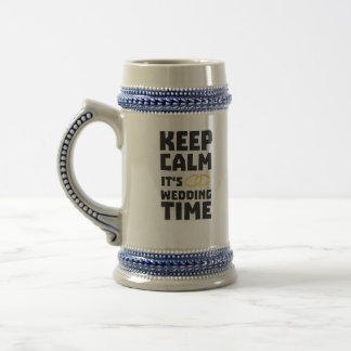 wedding time keep calm Zw8cz Beer Stein