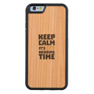 wedding time keep calm Zw8cz Carved Cherry iPhone 6 Bumper Case