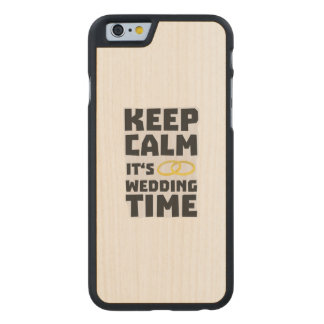 wedding time keep calm Zw8cz Carved Maple iPhone 6 Case