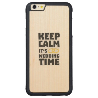wedding time keep calm Zw8cz Carved Maple iPhone 6 Plus Bumper Case