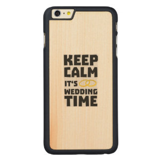 wedding time keep calm Zw8cz Carved Maple iPhone 6 Plus Case