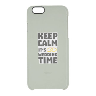 wedding time keep calm Zw8cz Clear iPhone 6/6S Case
