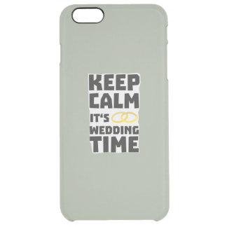 wedding time keep calm Zw8cz Clear iPhone 6 Plus Case
