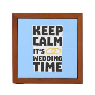 wedding time keep calm Zw8cz Desk Organiser