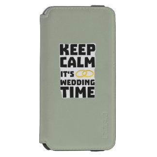 wedding time keep calm Zw8cz Incipio Watson™ iPhone 6 Wallet Case