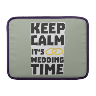 wedding time keep calm Zw8cz MacBook Sleeves
