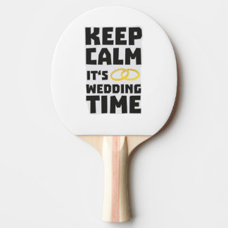 wedding time keep calm Zw8cz Ping Pong Paddle