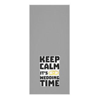 wedding time keep calm Zw8cz Rack Card Design