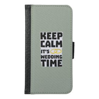 wedding time keep calm Zw8cz Samsung Galaxy S6 Wallet Case