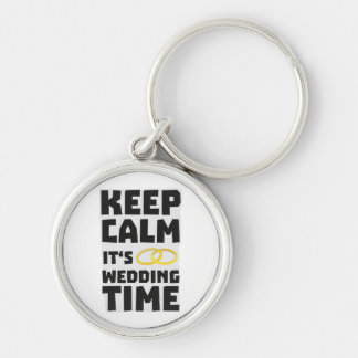 wedding time keep calm Zw8cz Silver-Colored Round Key Ring