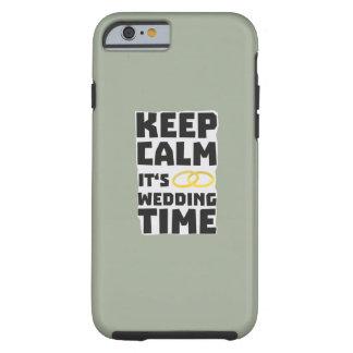 wedding time keep calm Zw8cz Tough iPhone 6 Case