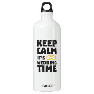 wedding time keep calm Zw8cz Water Bottle