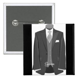 Wedding Tuxedo Groom Pin Button Badge Gift