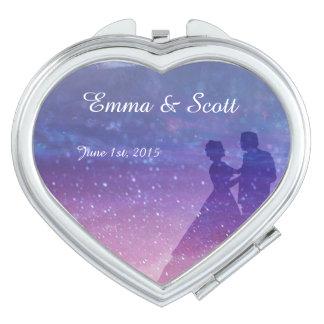 Wedding under the stars bridesmaids gift favors vanity mirrors