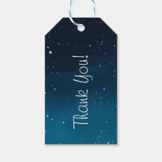 Wedding under the stars Thank You gift tags