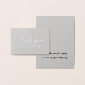 Wedding Usher Thank You Foil Card