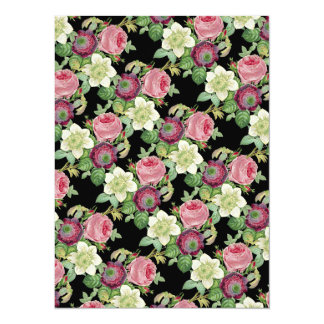 Wedding Vintage Botanical Blossom Country Chic 14 Cm X 19 Cm Invitation Card